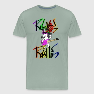Unicorn Rocker Rockin Rollin - Men's Premium T-Shirt