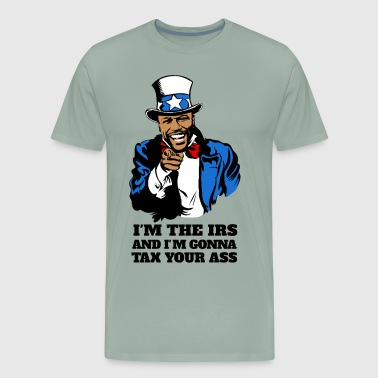 Floyd Mayweather - Im The IRS - Uncle Sam (Light) - Men's Premium T-Shirt