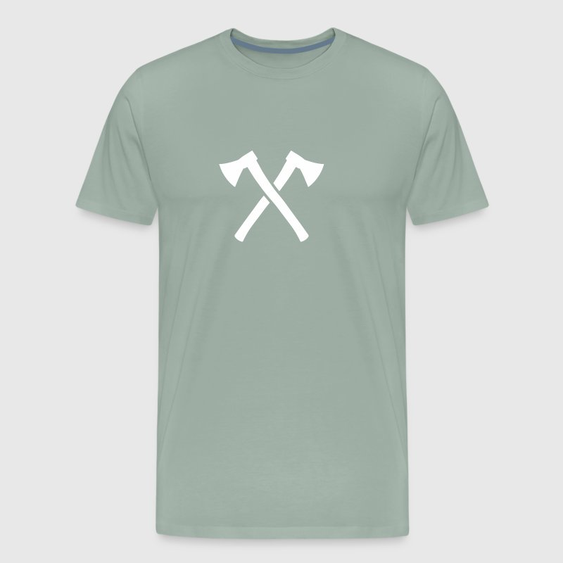 Crossed Axes funny tshirt - Men's Premium T-Shirt