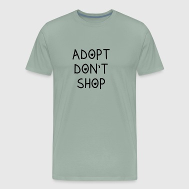 ADOPT DONT SHOP CAT - Men's Premium T-Shirt