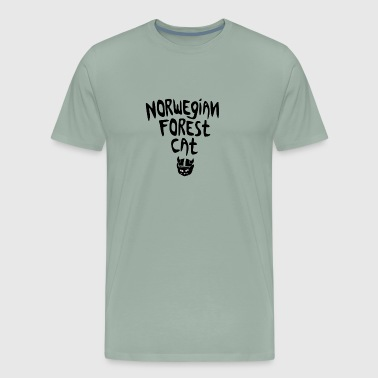 Norwegian viking forest cat - Men's Premium T-Shirt
