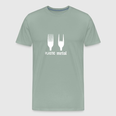 Plastic Metal Fork - Men's Premium T-Shirt