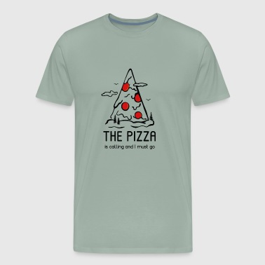 The Pizza is calling and i must go - Men's Premium T-Shirt