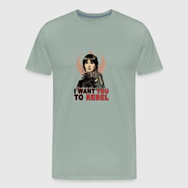 I Want You To Rebel - Men's Premium T-Shirt