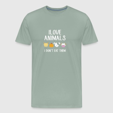 Quixote I love animals i don t eat them funny - Men's Premium T-Shirt