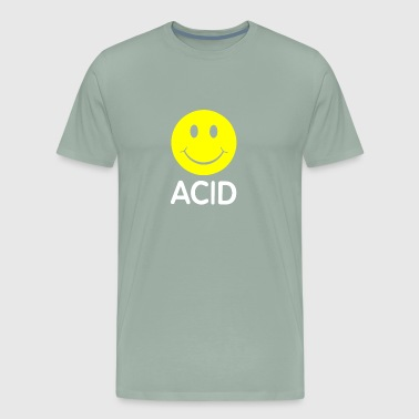 Smiley House Acid funny tshirt - Men's Premium T-Shirt