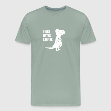 T Rex Hates Selfies - Men's Premium T-Shirt