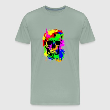 Skull, Skull, Art, Many Colors, Gothic - Men's Premium T-Shirt