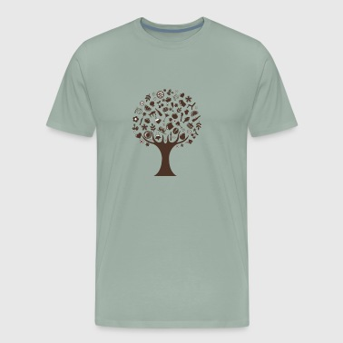 abstract tree funny logo - Men's Premium T-Shirt