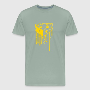 drops graffiti melting melt spray cheese holes gau - Men's Premium T-Shirt