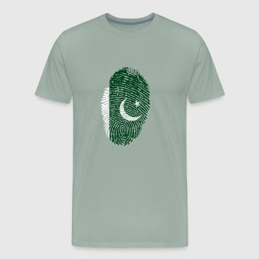 fingerprint i love wurzeln pakistan muslim - Men's Premium T-Shirt