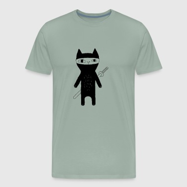 Cats And Books cat ninja - Men's Premium T-Shirt