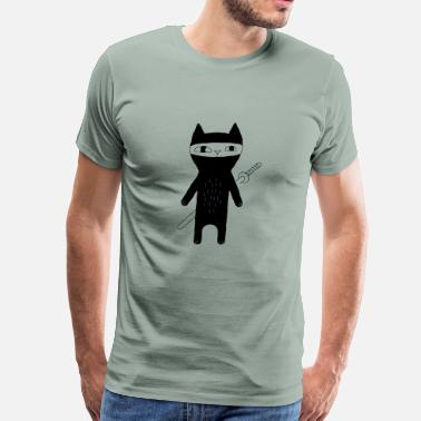 Cat Book cat ninja - Men's Premium T-Shirt