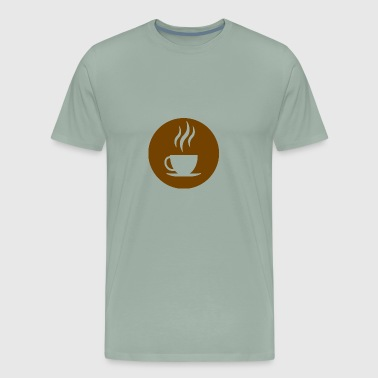 Starbucks-logo cup of coffee (logo) - Men's Premium T-Shirt