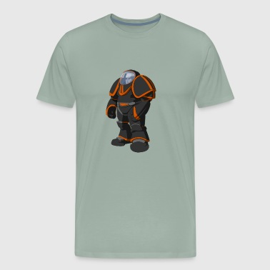 NEON ORANGE AUSTRONAUT - Men's Premium T-Shirt