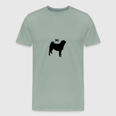 CAUSE PUGS ARE LOVED ALL OVER THE WORLD - Men's Premium T-Shirt