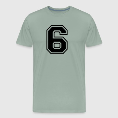Font Football Number 6 college style font - Men's Premium T-Shirt