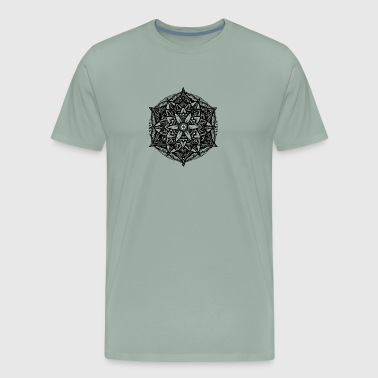 Sacred Geometry Flower of Life Mandala Star - Men's Premium T-Shirt