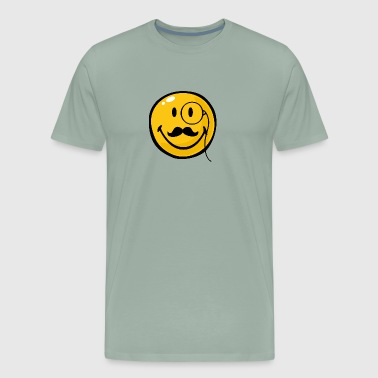 SmileyWorld Smiley with Monocle - Men's Premium T-Shirt