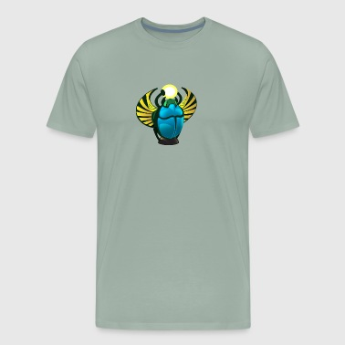 Egypt beetle scarabaeus insect vector cartoon fun - Men's Premium T-Shirt