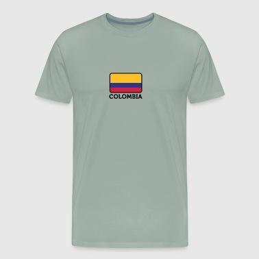 Shakira National Flag Of Colombia - Men's Premium T-Shirt