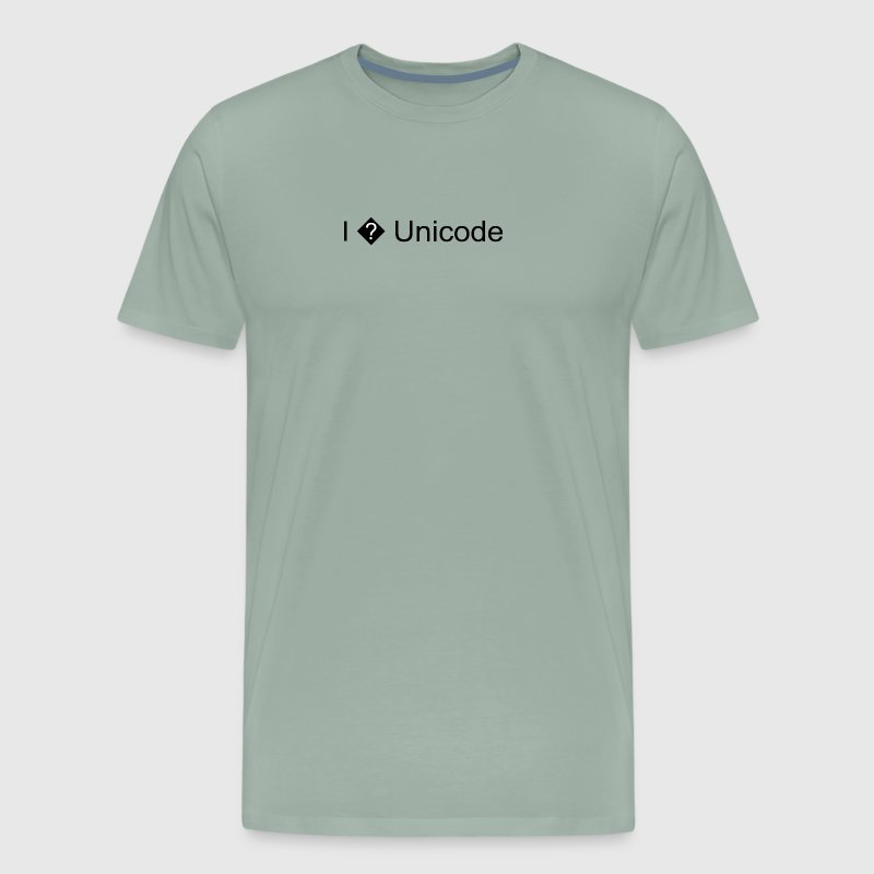 I Heart Unicode - Men's Premium T-Shirt