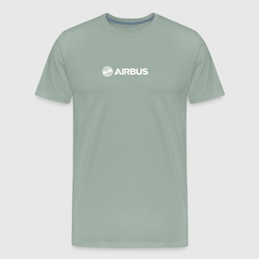 Airbus logo White - Men's Premium T-Shirt