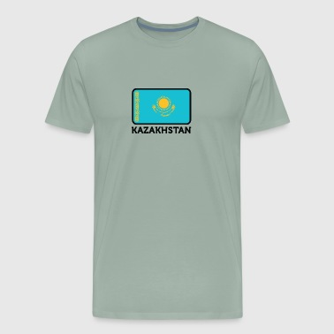 National Flag Of Kazakhstan - Men's Premium T-Shirt