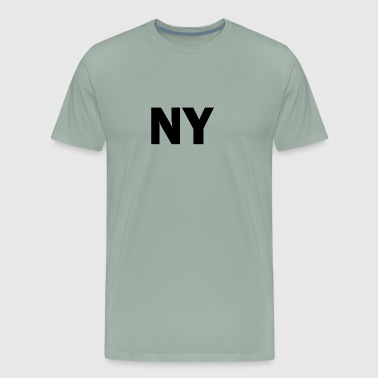 Upstate Ny PLACE AND TIME - NY BLACK - Men's Premium T-Shirt