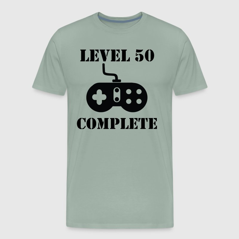 Level 50 Complete 50th Birthday - Men's Premium T-Shirt