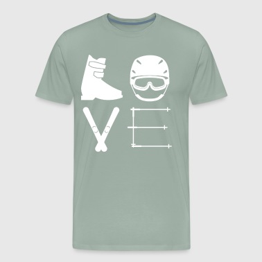 Love Ski Ski love - Men's Premium T-Shirt