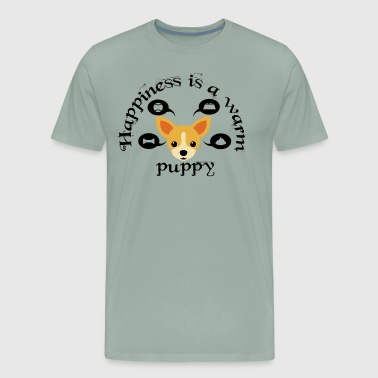 happiness is a warm puppy - Men's Premium T-Shirt