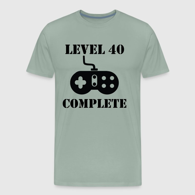 Level 40 Complete 40th Birthday - Men's Premium T-Shirt