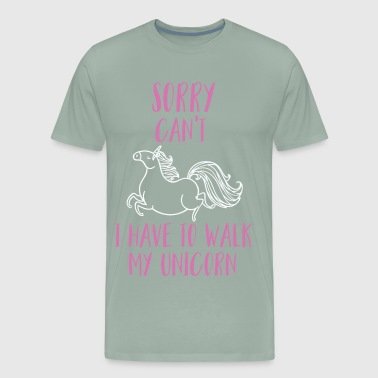 Walk my Unicorn - Men's Premium T-Shirt