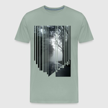 Foggy road - Men's Premium T-Shirt