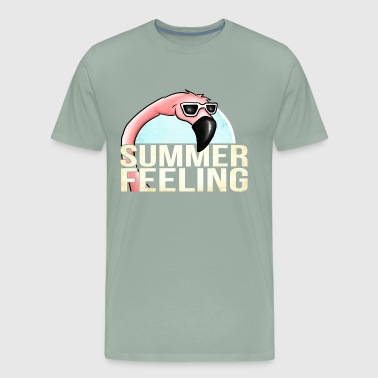 Flamingo Summer Feeling Pink Beaches and Sea Gift - Men's Premium T-Shirt