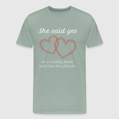 bridesmaid bachelor party - Men's Premium T-Shirt