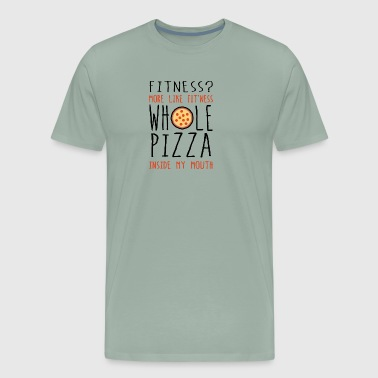 Fitness Whole Pizza In My Mouth - Men's Premium T-Shirt