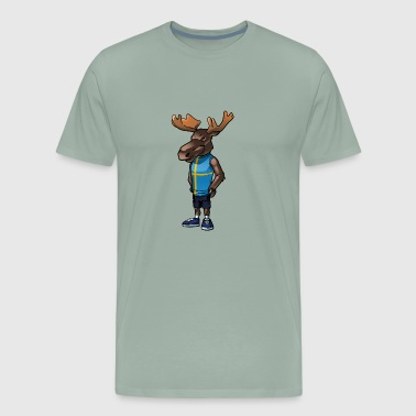 Swedish Flag Swedish moose - Men's Premium T-Shirt