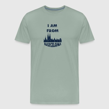 Barcelona I am from - Men's Premium T-Shirt