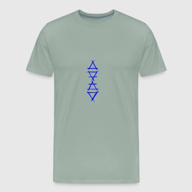 Alchemy symbol 4 elements blue - Men's Premium T-Shirt