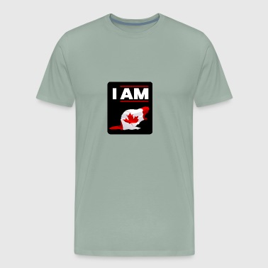 I am Canadian Beaver - Men's Premium T-Shirt