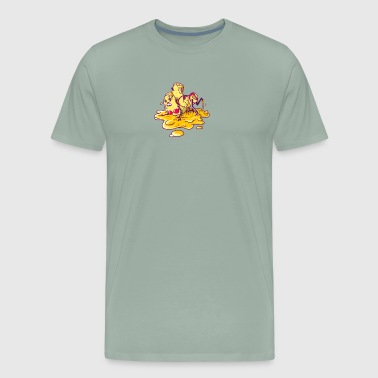 Hot Macs Wrestling in Cheese - Men's Premium T-Shirt