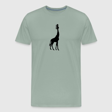 Bass Guitar And Giraffe - Men's Premium T-Shirt