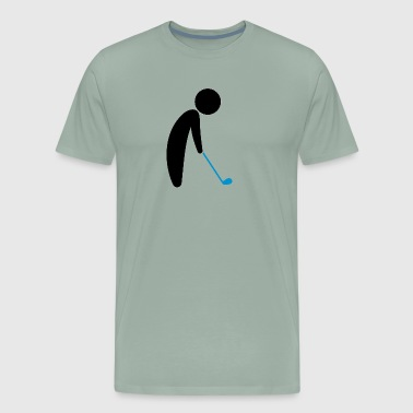 A Golfer About To Tee Off - Men's Premium T-Shirt