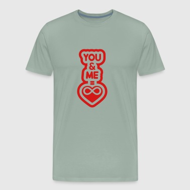 infinity sign heart you me couple taken forgive lo - Men's Premium T-Shirt