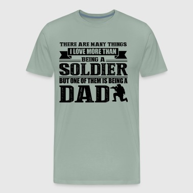 Love Soldier Dad Shirt - Men's Premium T-Shirt