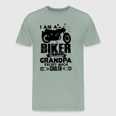 Biker Grandpa Normal Grandpa Except Cooler Shirt - Men's Premium T-Shirt