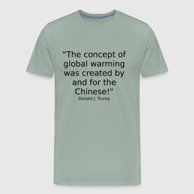 Climate change and the Chinese - Men's Premium T-Shirt
