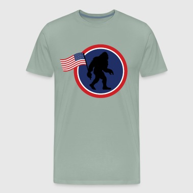 Bigfoot 4th Of July Shirts Patriotic USA Flag Yeti - Men's Premium T-Shirt